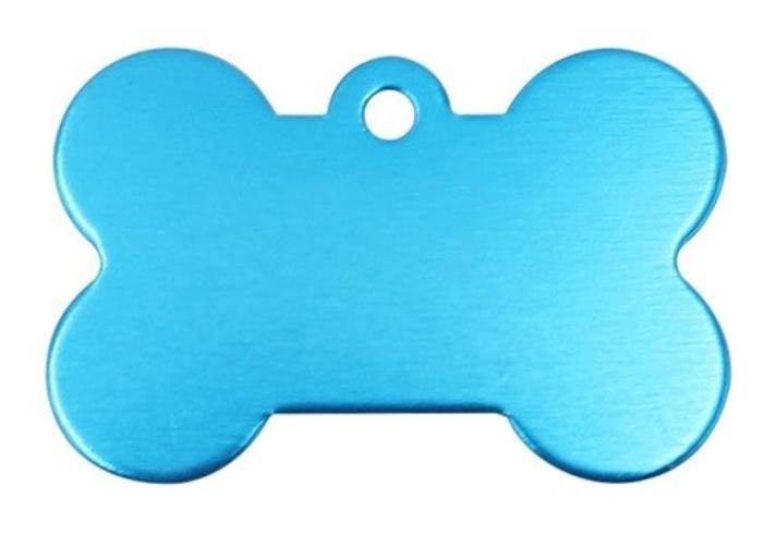 Známka pro psa bledě modrá kost + možnost rytí