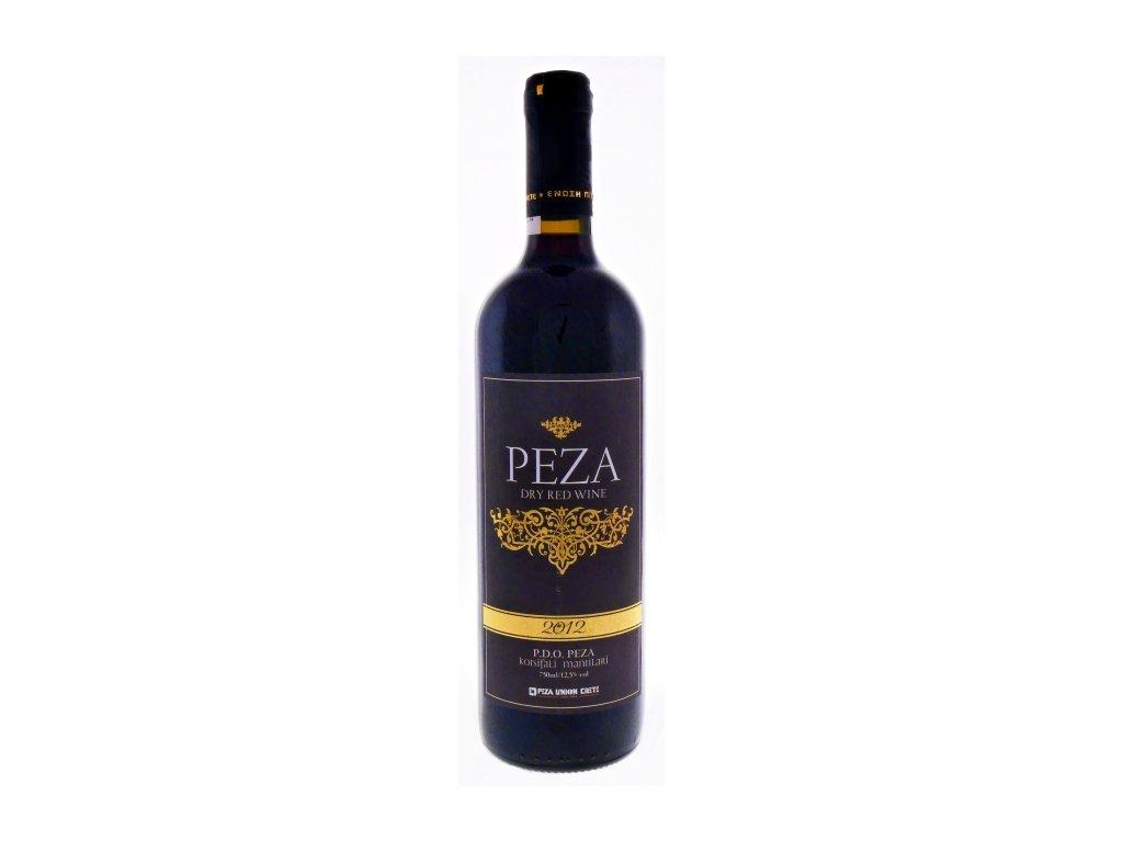 Červené suché víno Peza