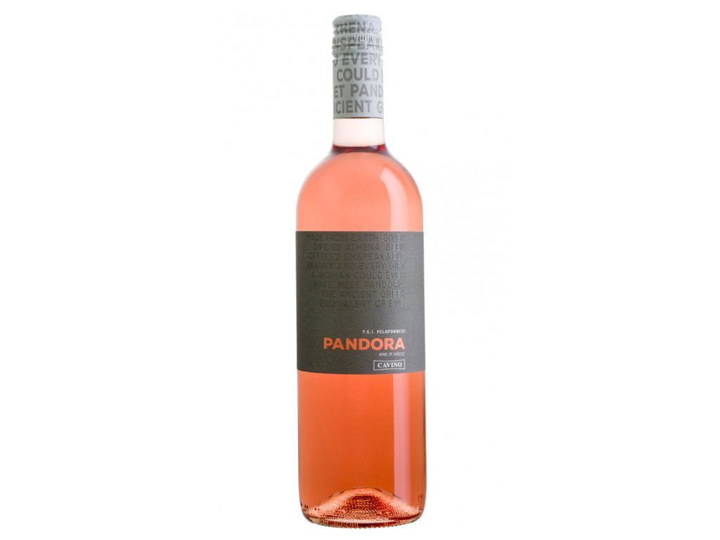 Růžové suché víno Pandora