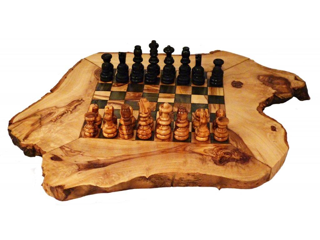 dřevěné šachy 25cm