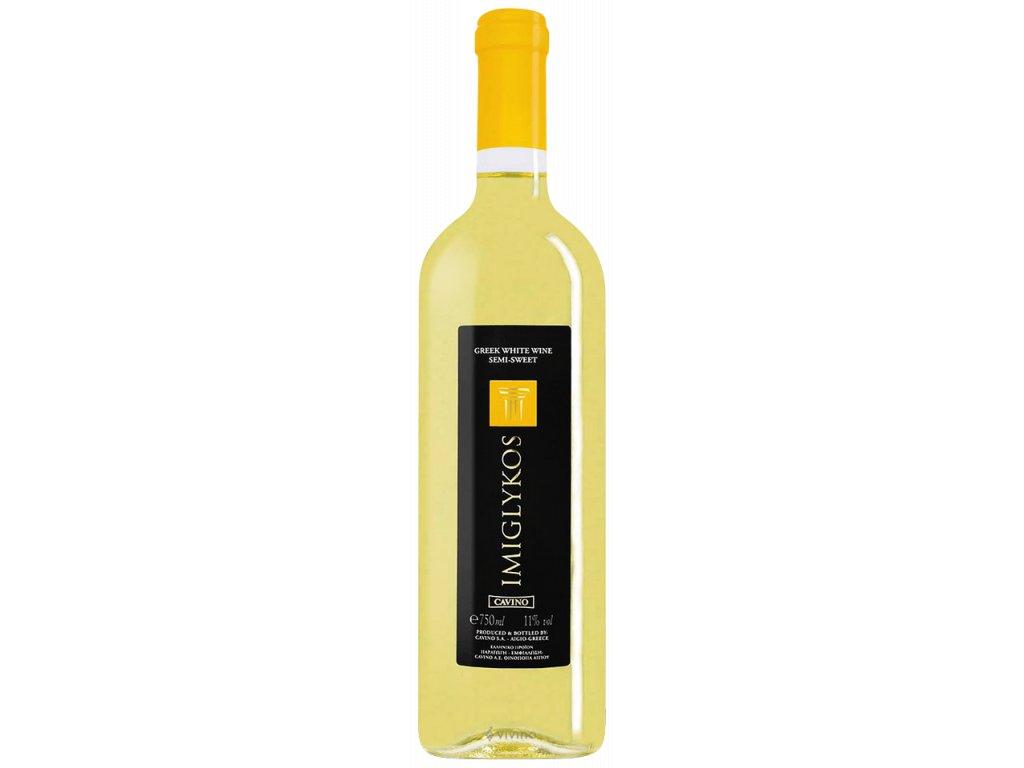 Bílé polosladké víno Imiglyskos 750ml