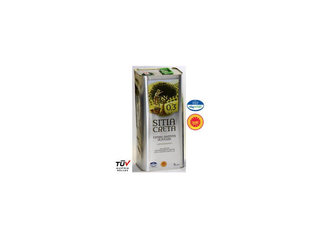 Olivový olej Sitia Creta 0,3% P.D.O. 5L
