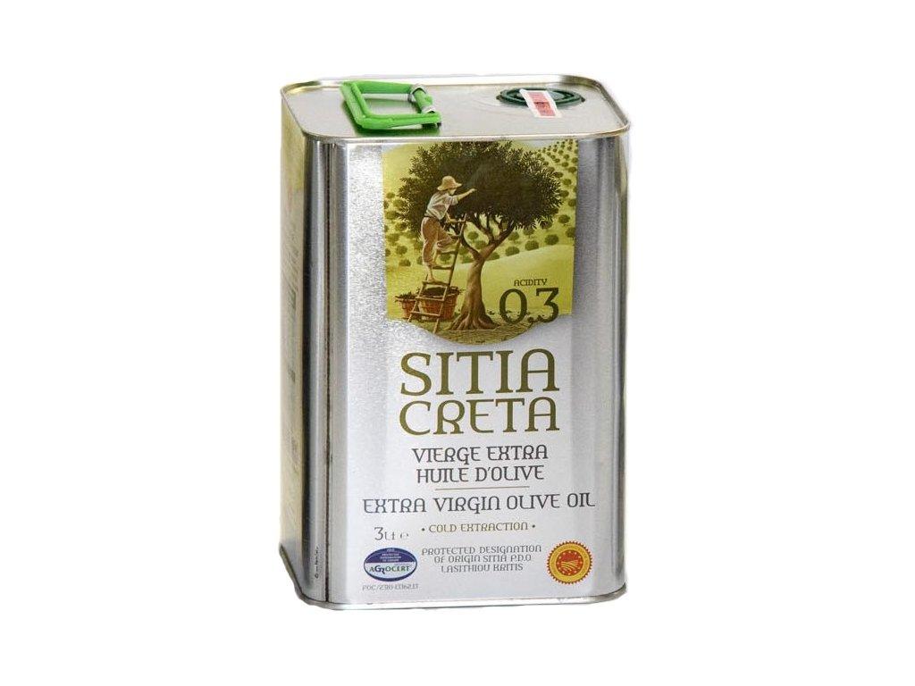 Extra panenský olivový olej Sitia 0,3% P.D.O. 3L