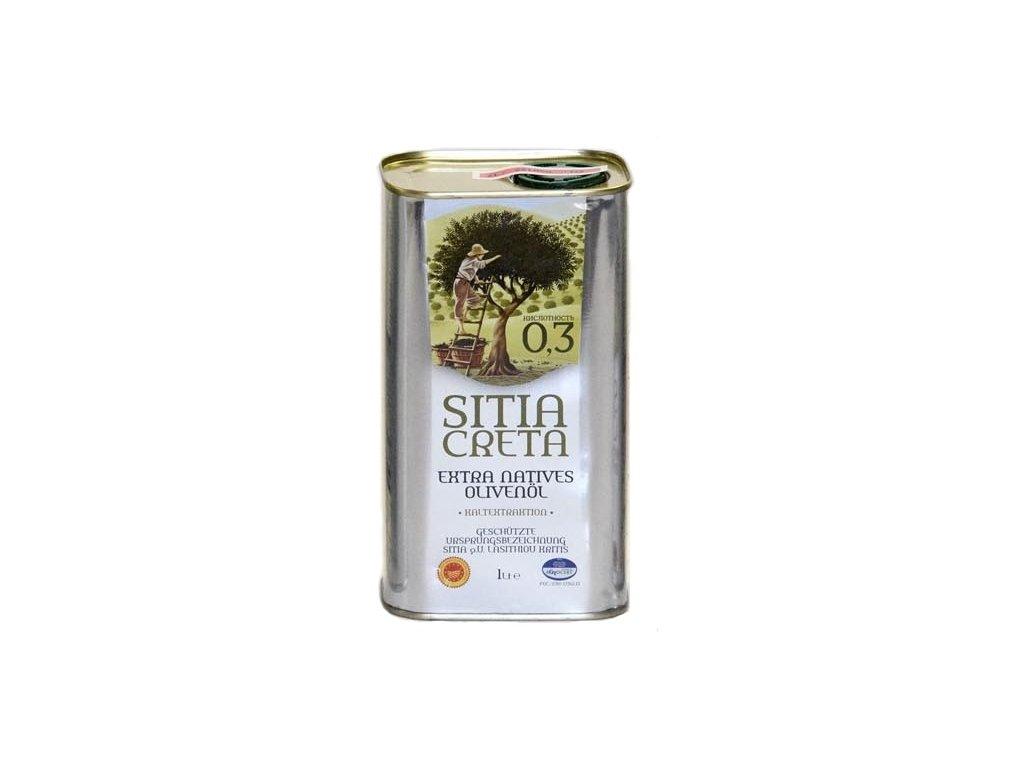 Extra panenský olivový olej Sitia Creta P.D.O. 0,3% 1L