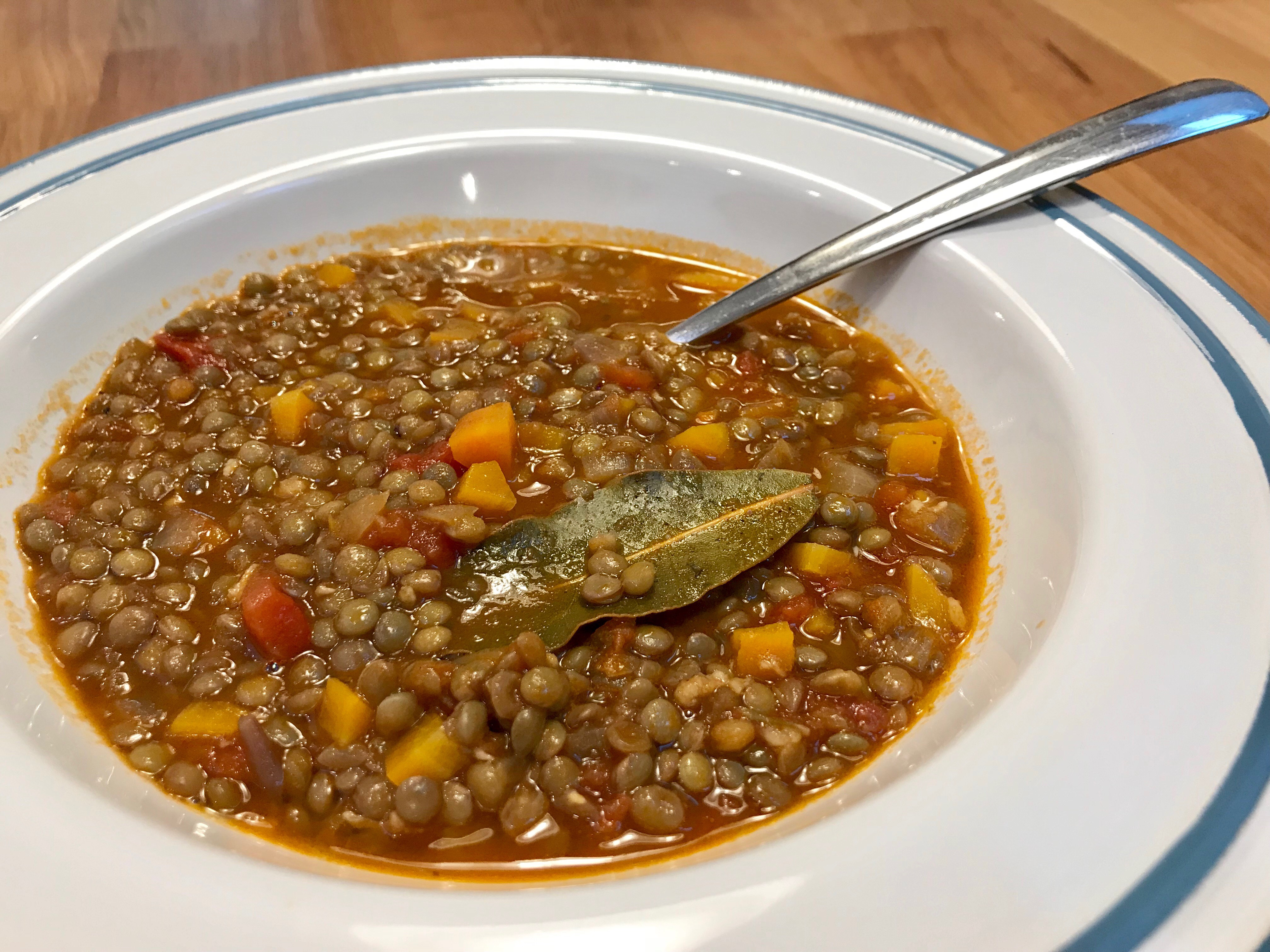 Čočková polévka - soupa fakes