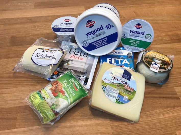 Řecké sýry a jogurty