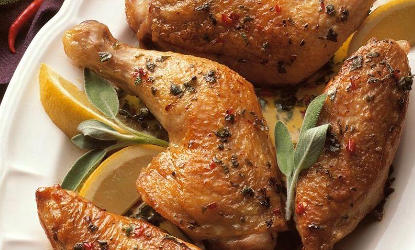 Kuře na šalvěji