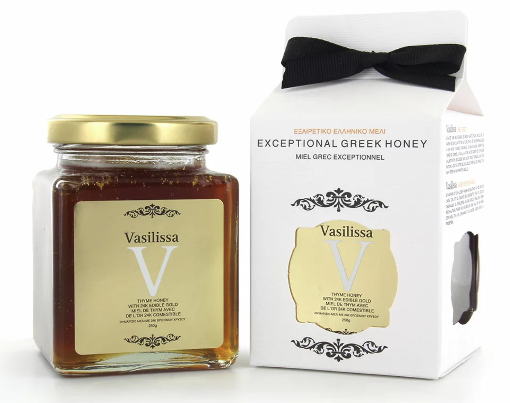 Tymiánový med s 24 karátovým jedlým zlatem