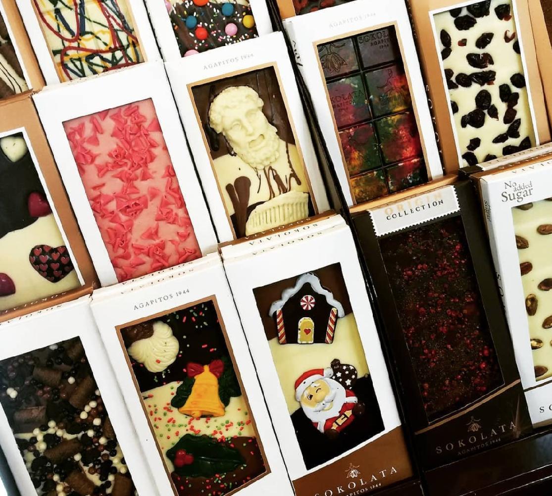 Čokolády a pralinky