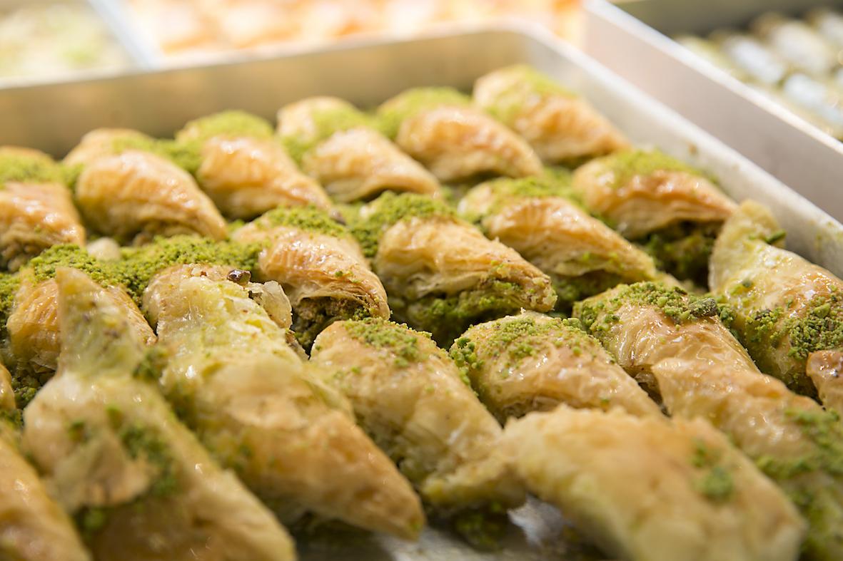 Baklava, kataifi, chalva, loukoumi