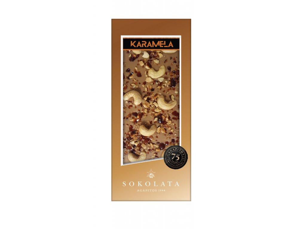 Cokolada KARAMELA s orisky Greek Market