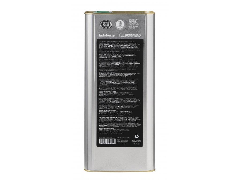 Ladolea extra panensky olivovy olej Megaritiki 5l Greek Market