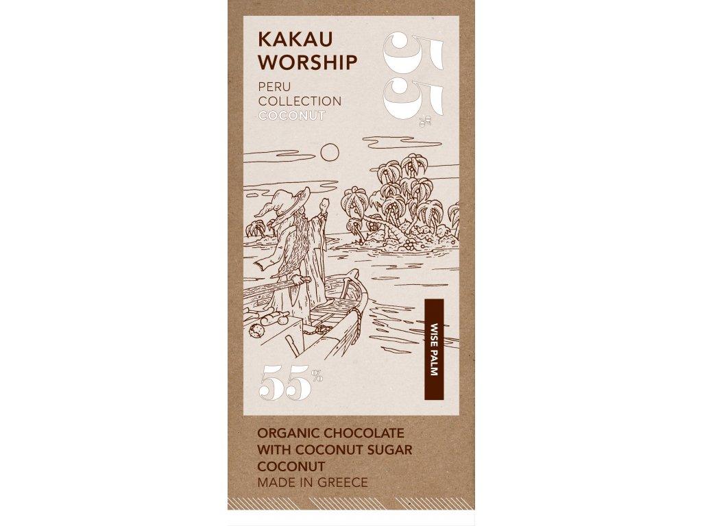 Kakau BIO horka cokolada s kokosem kolekce Peru GreekMarket