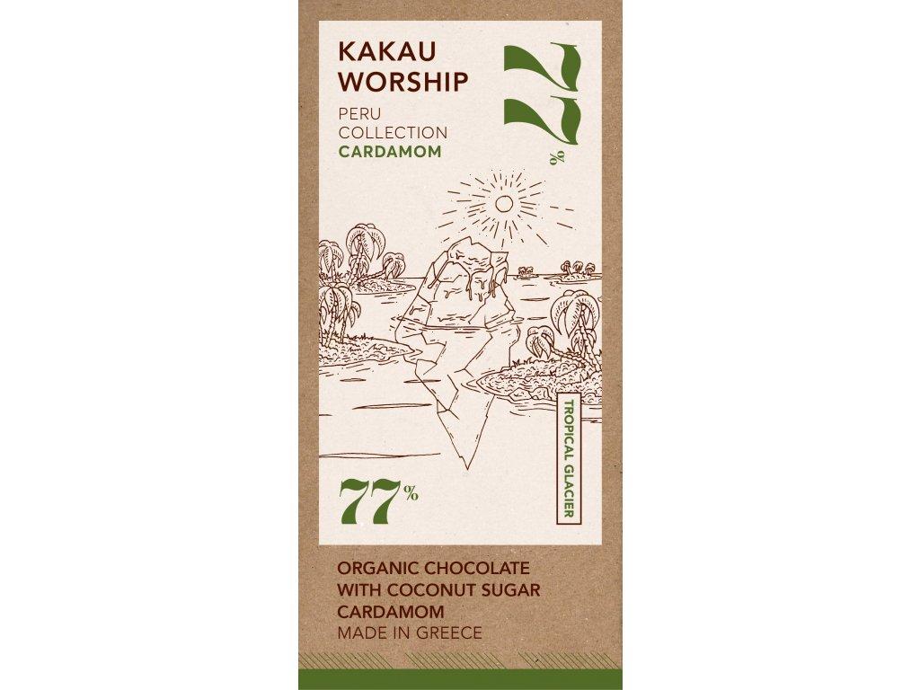 Kakau BIO horka cokolada s kardamomem kolekce Peru GreekMarket
