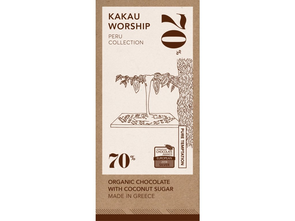 Kakau BIO horka cokolada kolekce Peru GreekMarket