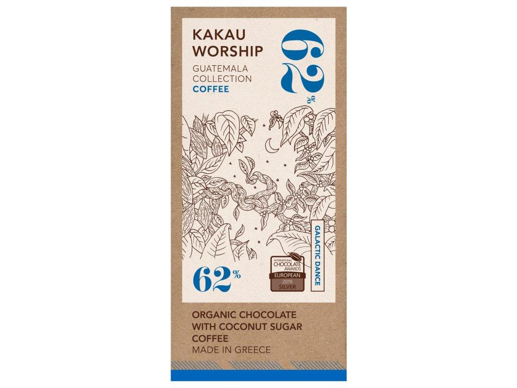 Kakau BIO horka cokolada s kavou kolekce Guatemala GreekMarket