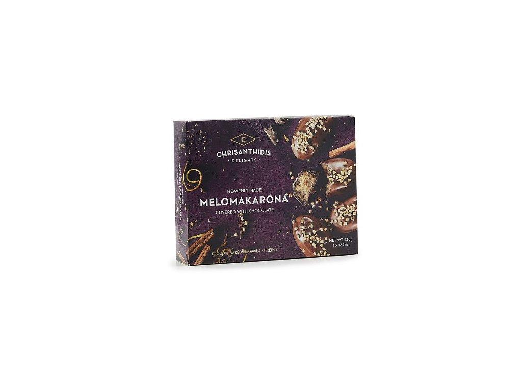 Melomakarona dezert z medu a vlasskych orechu obaleno v cokolade GreekMarket