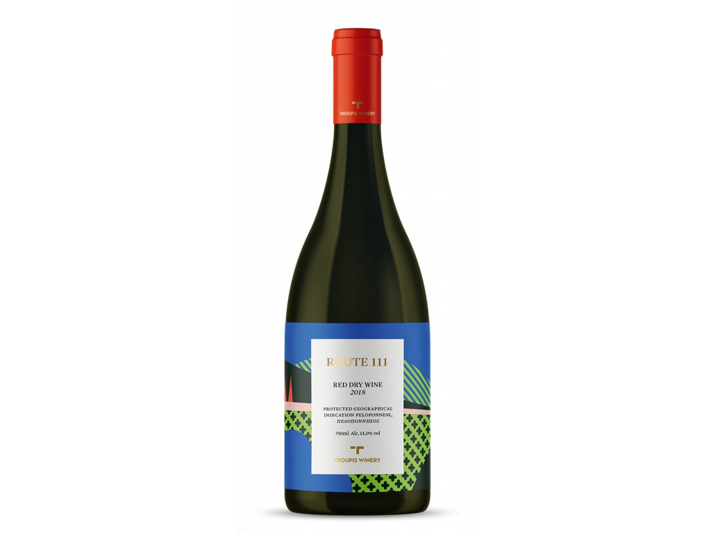 Troupis WInery cervene suche vino ROUTE 111 Mavrodafni Agiorgitiko GreekMarket