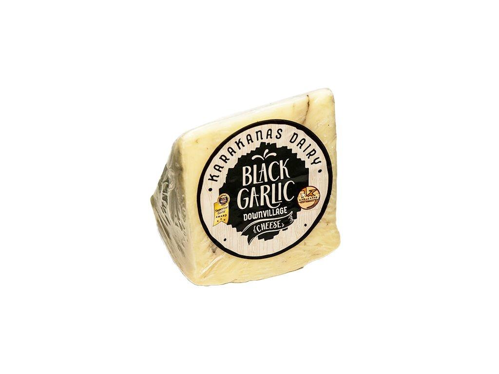 Black Garlic syr z ovciho a koziho mleka s cernym cesnekem GreekMarket