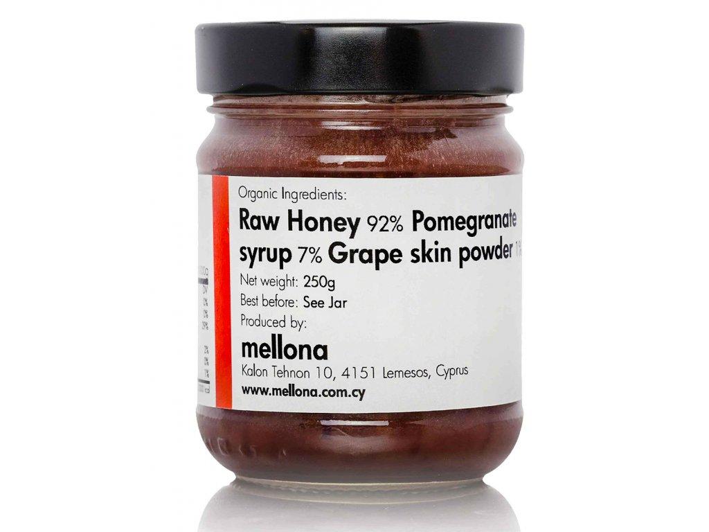 Mellona BIO pomazánka z raw med s granatovym jablkem a Acai Greek Market