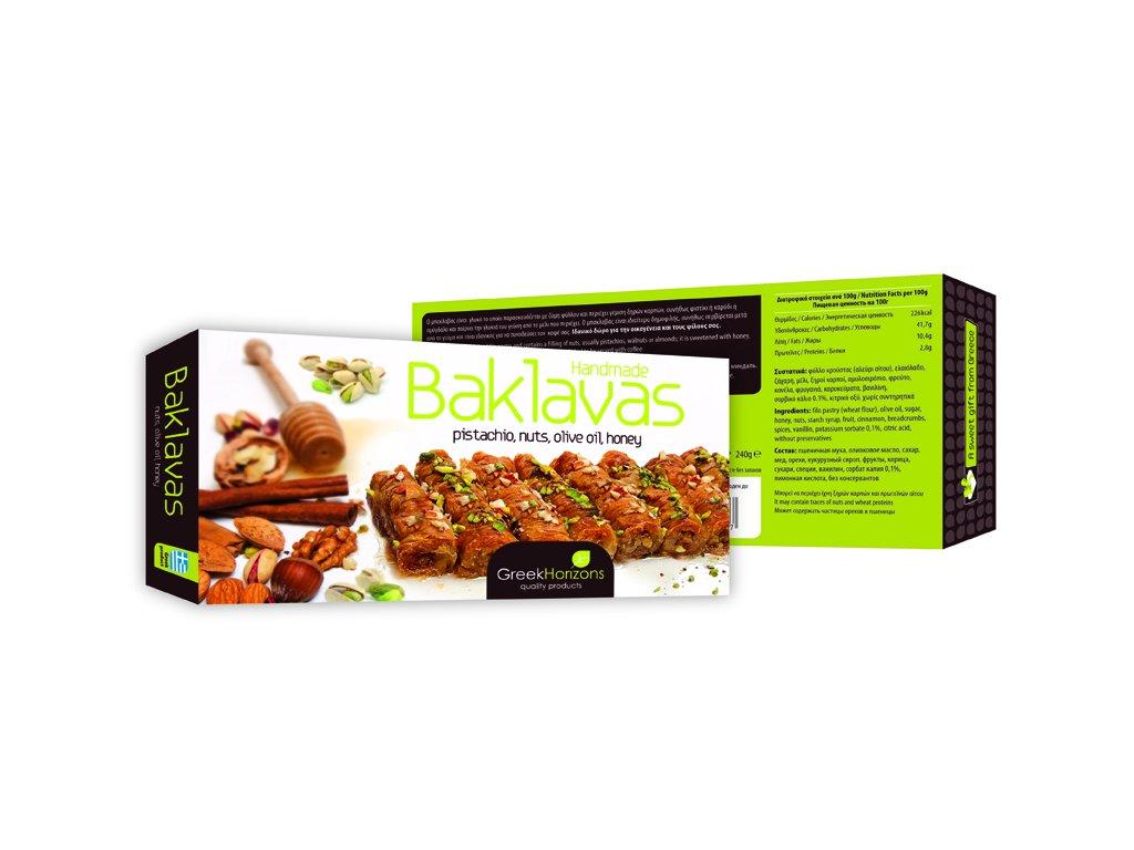Baklavas PISTACHIO, NUTS, OLIVE OIL, HONEY 240gr 2015