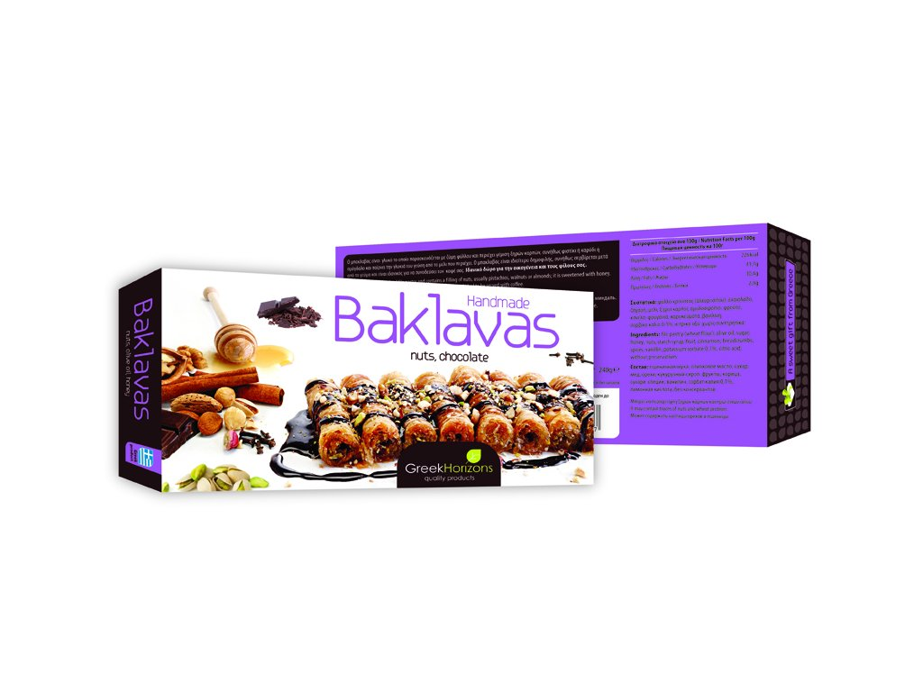 Baklavas NUTS, CHOCOLATE 240gr 2015