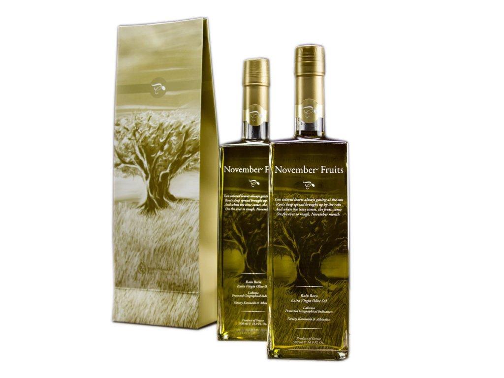Extra panenský olivový olej November Fruits 500ml sklo