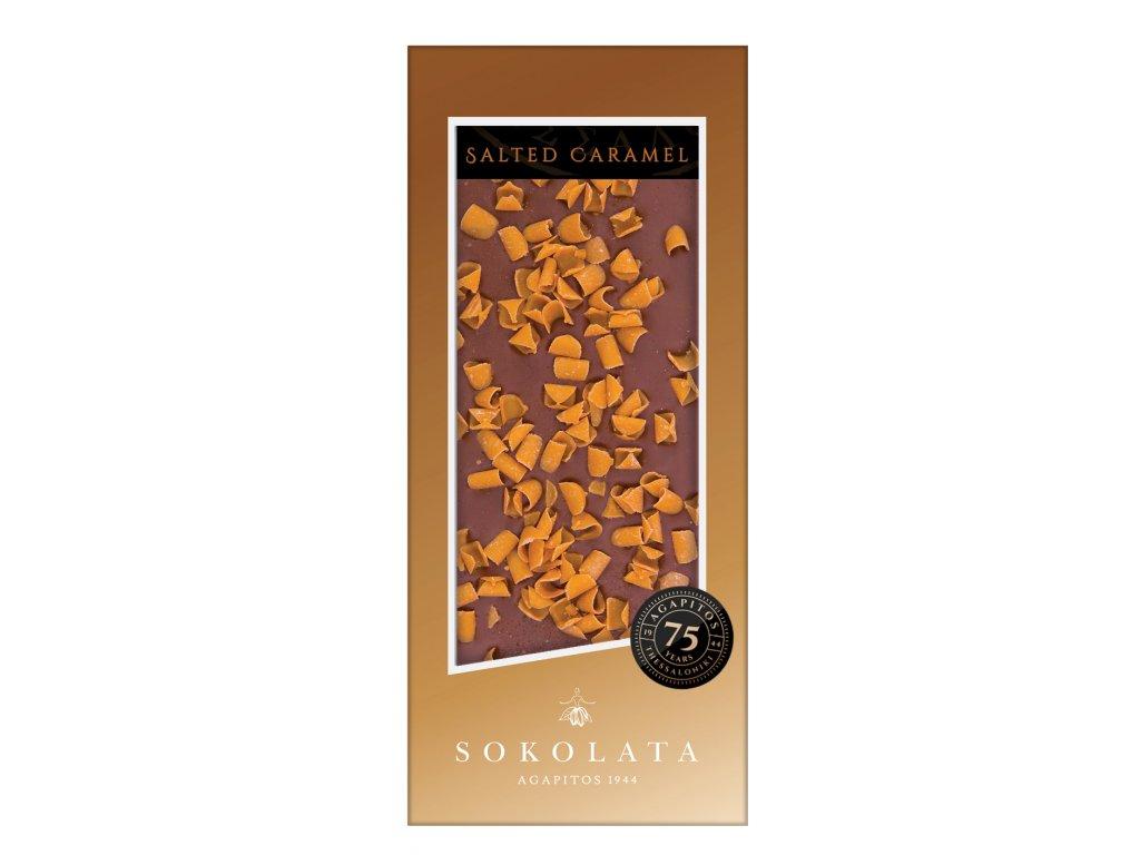 Mlecna cokolada se slanym karamelem Sokolata Agapitos Greek Market