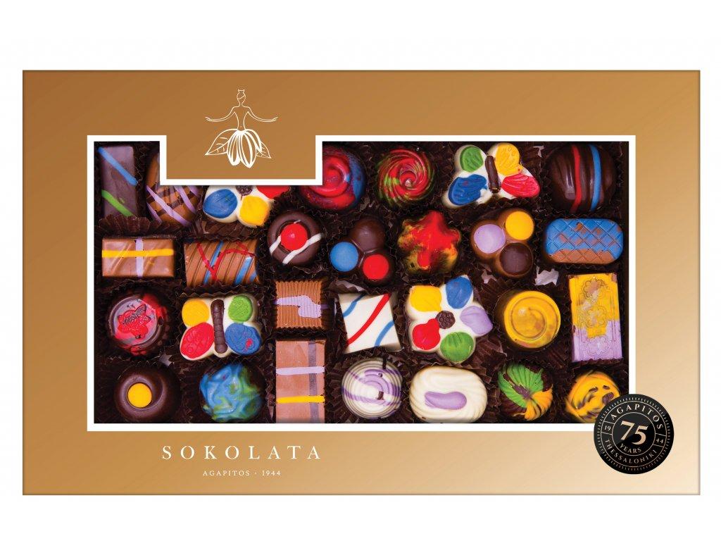 Cokoládové pralinky ART Sokolata Agapitos Greek Market