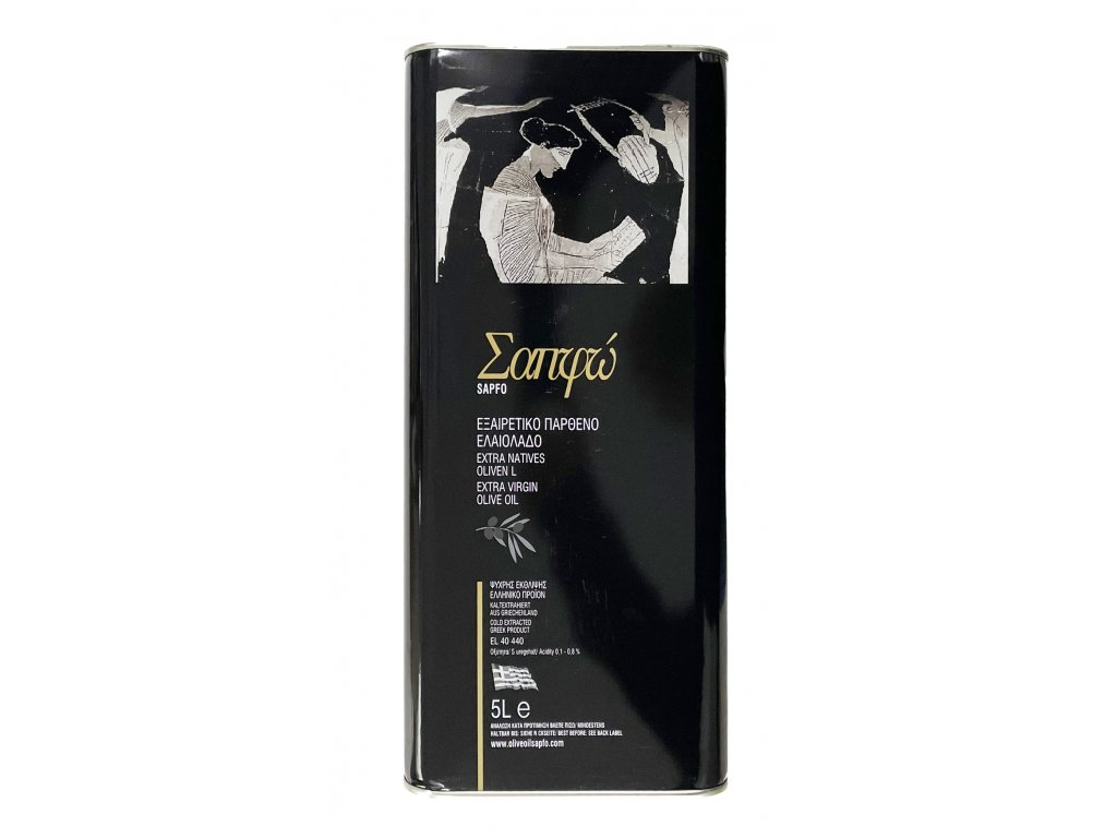 Sapfo extra panensky olivovy olej z ostrova Lesbos 5l GreekMarket