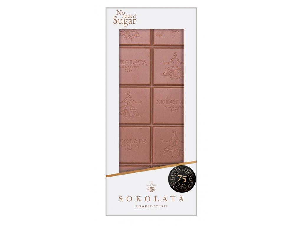 Mlecna cokolada bez cukru Sokolata Agapitos Greek Market