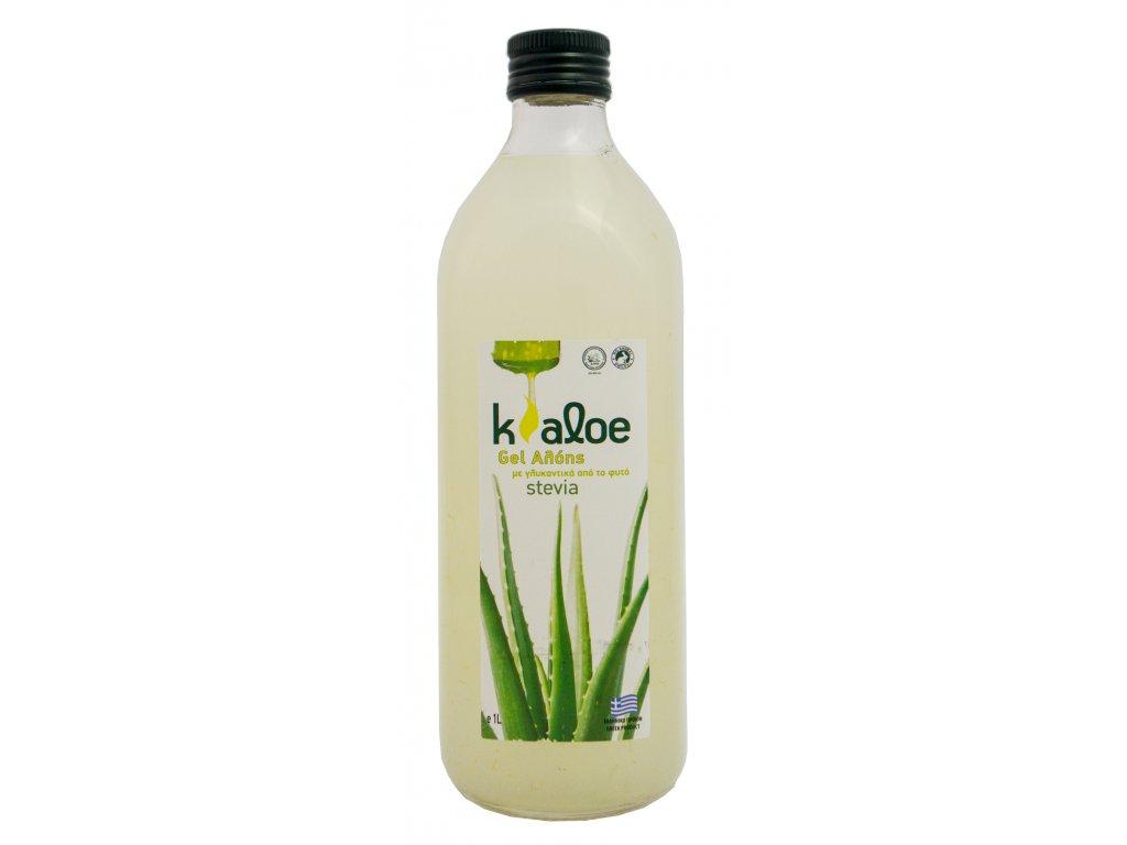 Kaloe Aloe vera gel se stevii Greek market