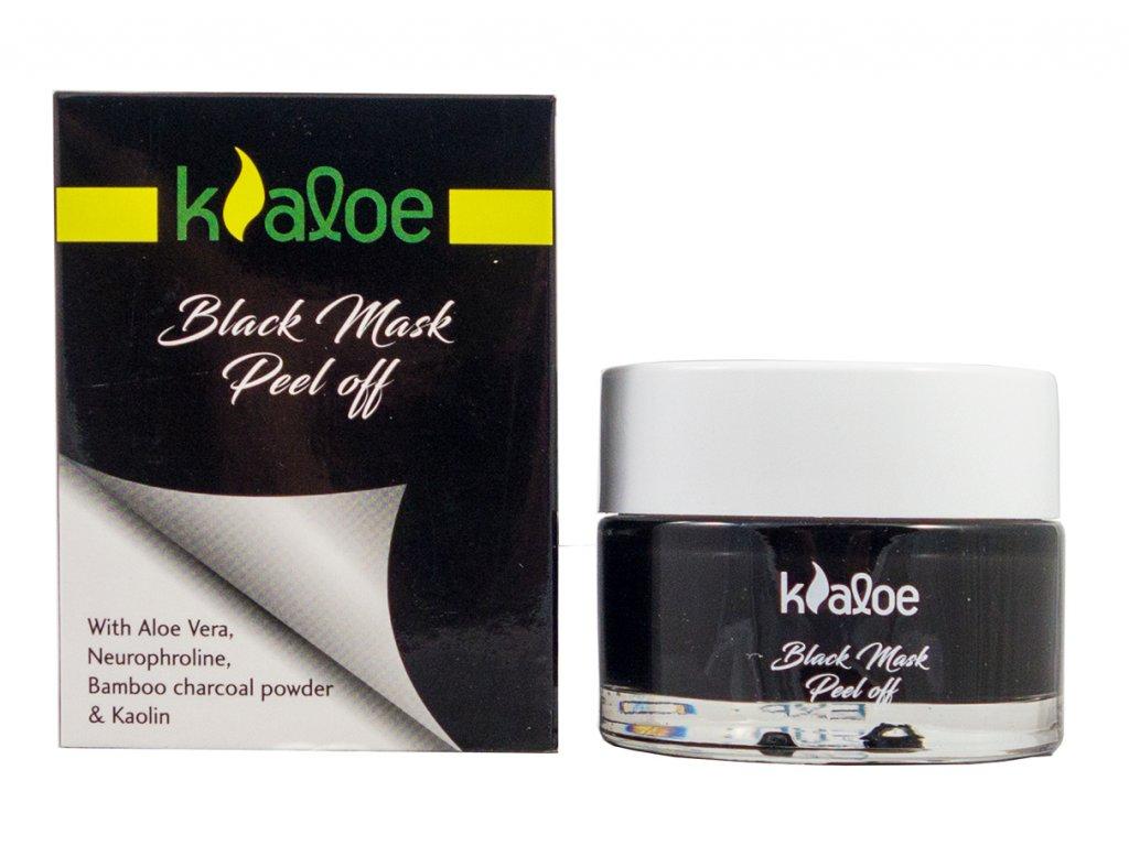 Kaloe cistici maska na oblicej BLACK s vytazkem z Aloe vera 50ml