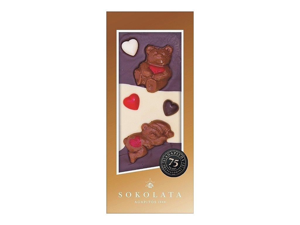 LOVE hořká, mléčná a bílá čokoláda 100g SOKOLATA AGAPITOS