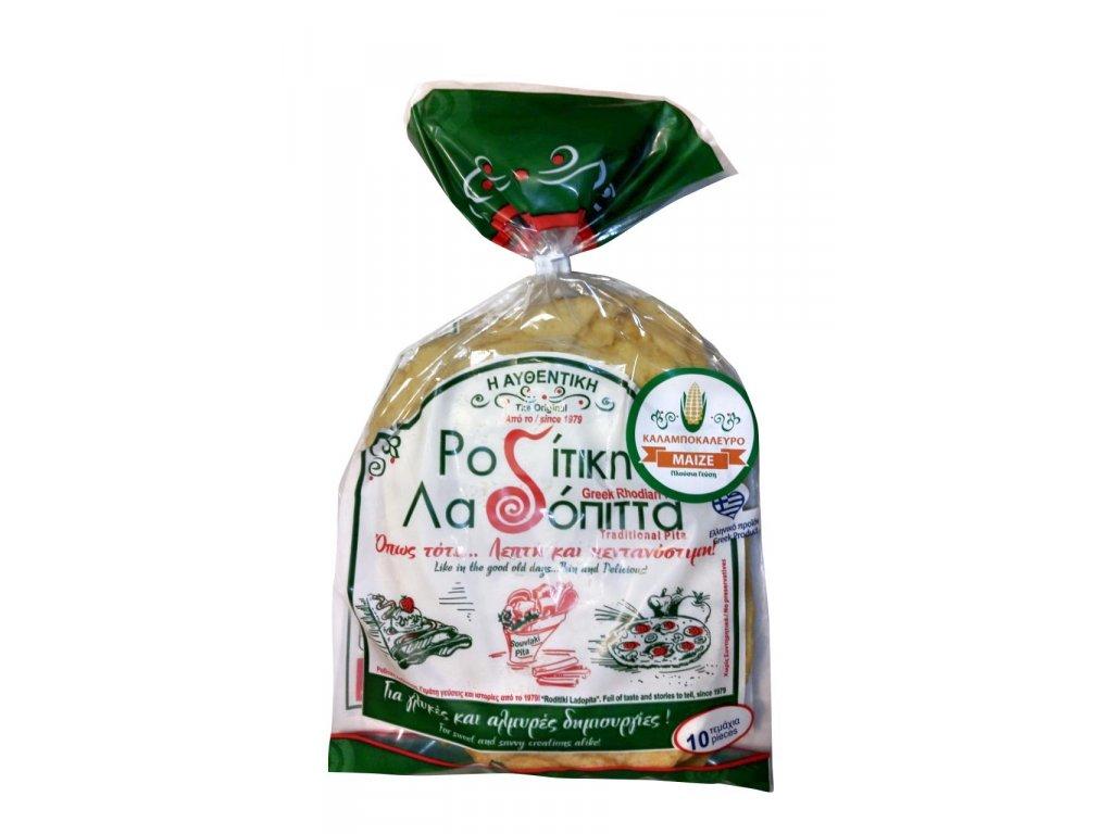 Recka pita z kukuricne mouky z ostrova Rhodos Roditiki ladopita Greek Market
