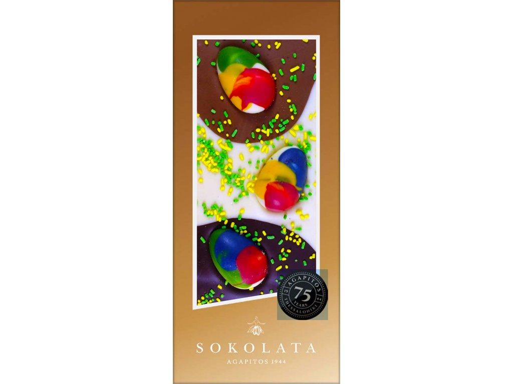 Velikonoční hořká, mléčná a bílá čokoláda 100g SOKOLATA AGAPITOS