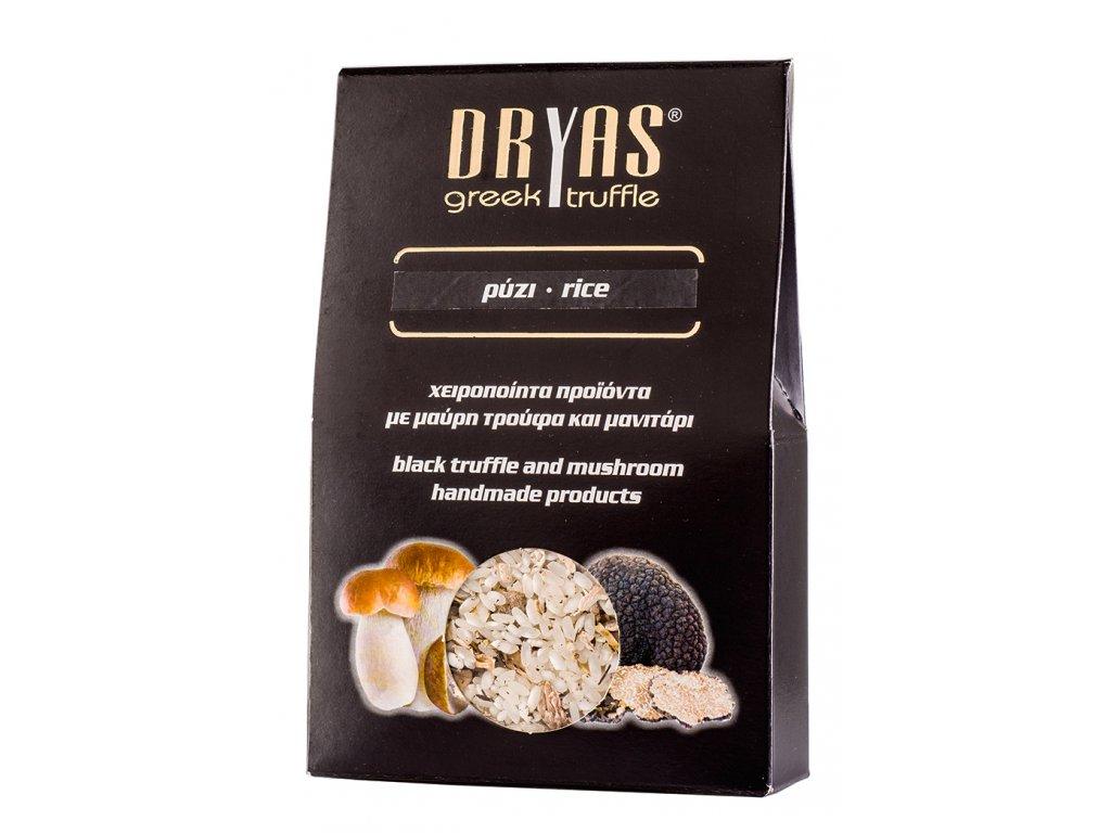 Dryas ryze s houbami a cernym letnim lanyzem Greek Market
