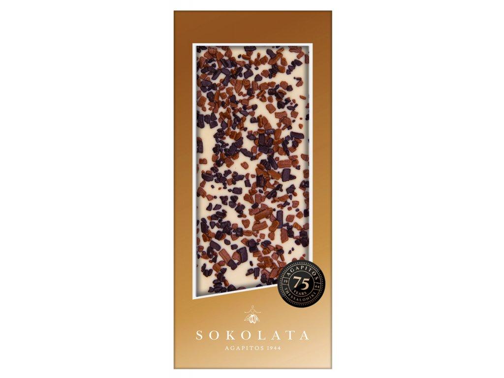 Bila cokolada s kousky kakaa Agapitos Greek Market