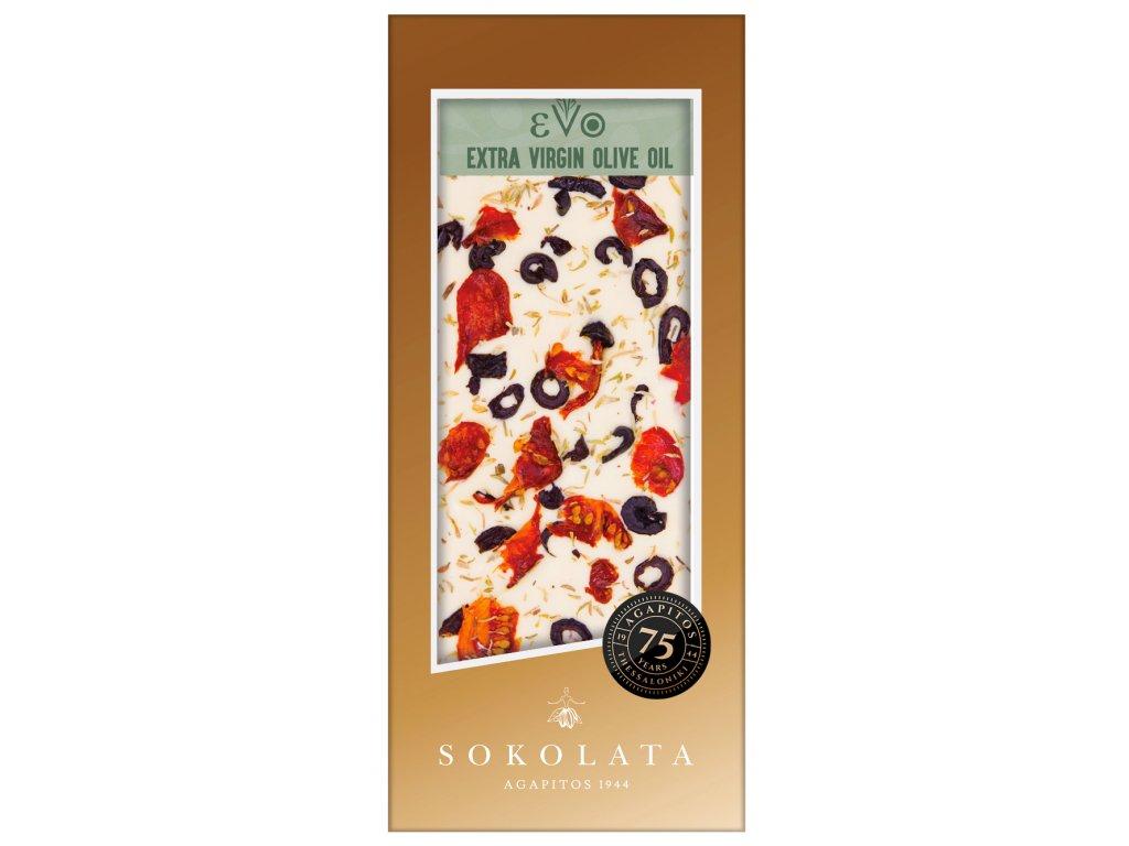 Bila cokolada s evo, tymian, olivy, susena rajcatka a uzena sul Agapitos Greek Market