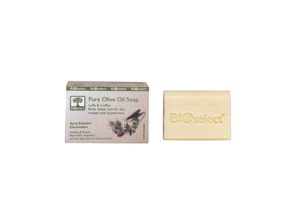 BIOselect prirodni olivove mydlo s lufou a kavou GreekMarket
