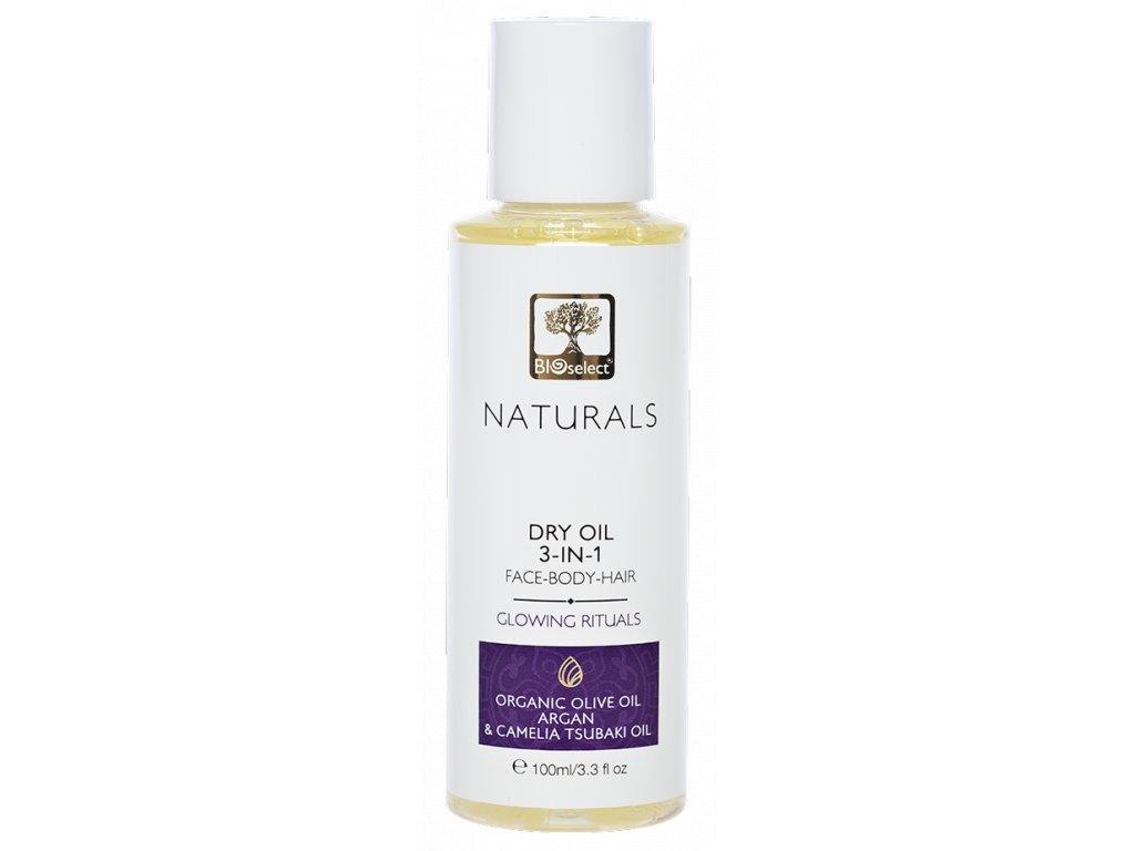 BIOselect NATURALS suchy olej 3v1 na oblicej, telo a vlasy GLOWING RITUALS GreekMarket