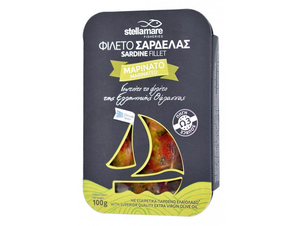 StellaMare marinovane sardinky se zeleninkou a extra panenskym olivovym olejem GreekMarket