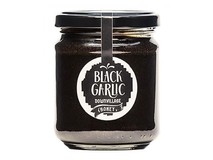 Black garlic downvillage borovicovy med s cernym cesnekem GreekMarket