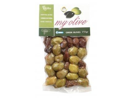 My olive mix zelenych a kalamon oliv 150g GreekMarket