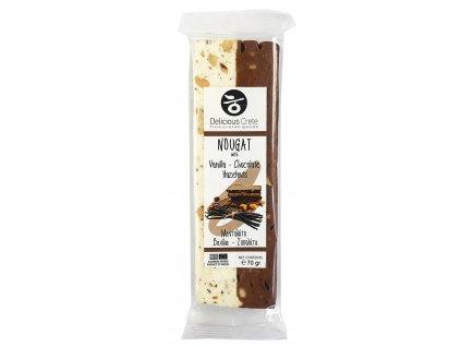 Delicious Crete nougat s vanilkou, cokoladou a liskovymi orisky GreekMarket
