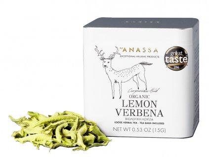 Anassa Lemon Verbena čaj v plechovce GreekMarket