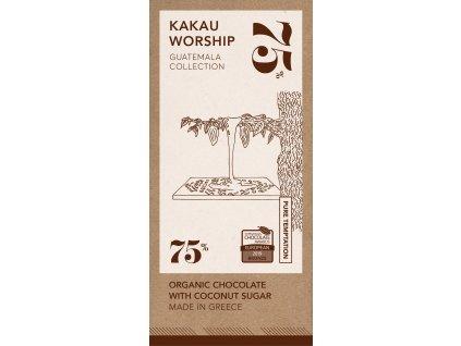Kakau BIO horka cokolada kolekce Guatemala GreekMarket