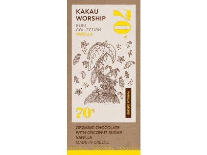 Kakau BIO horka cokolada s vanilkou kolekce Peru GreekMarket