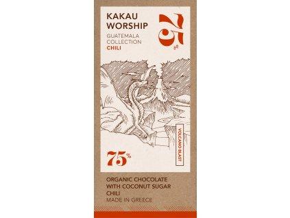 Kakau BIO horka cokolada s chilli kolekce Guatemala GreekMarket