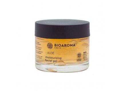 ALOÉ BIO zvlhčující gel na obličej s aloe vera, diktamem a tea-tree olejem pro všechny typy pleti 50ml BioAroma
